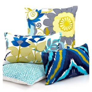 Trina Turk Residential Linen Embroidered Pillow